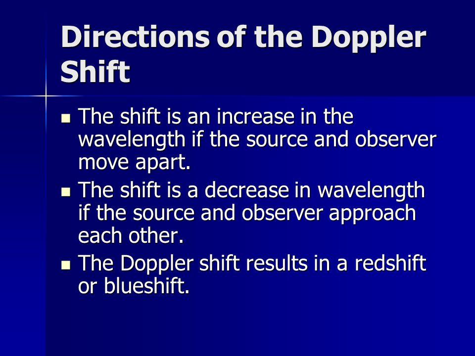 Directions of the Doppler Shift