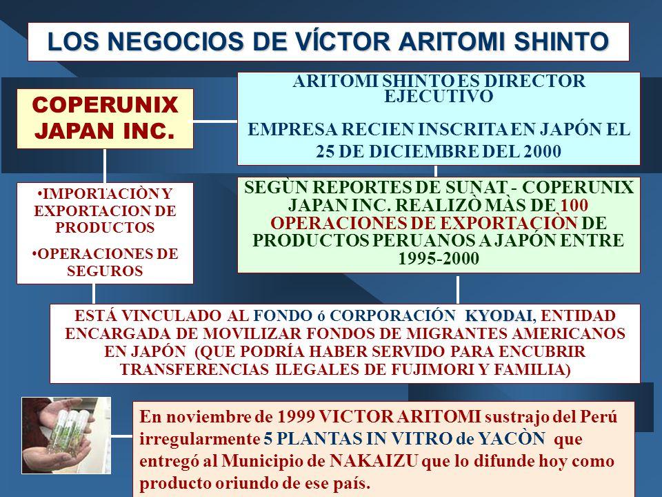 LOS NEGOCIOS DE VÍCTOR ARITOMI SHINTO
