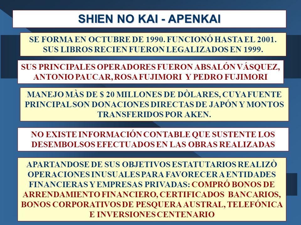 SHIEN NO KAI - APENKAI SE FORMA EN OCTUBRE DE 1990. FUNCIONÓ HASTA EL 2001. SUS LIBROS RECIEN FUERON LEGALIZADOS EN 1999.