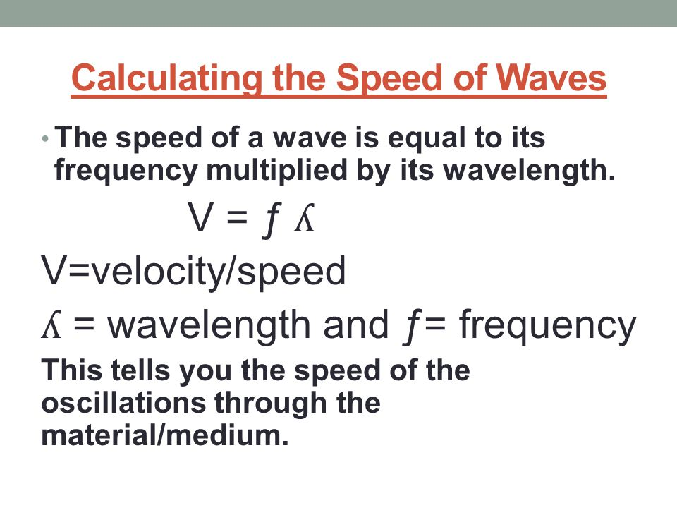 Calculating the Speed of Waves