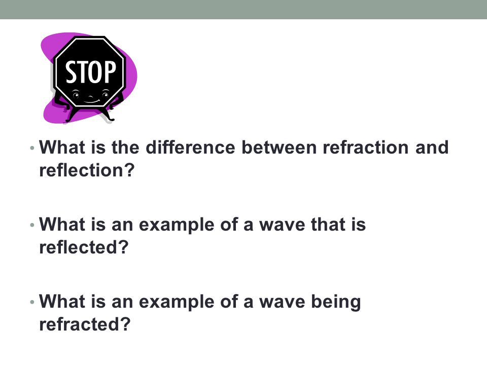 What is the difference between refraction and reflection