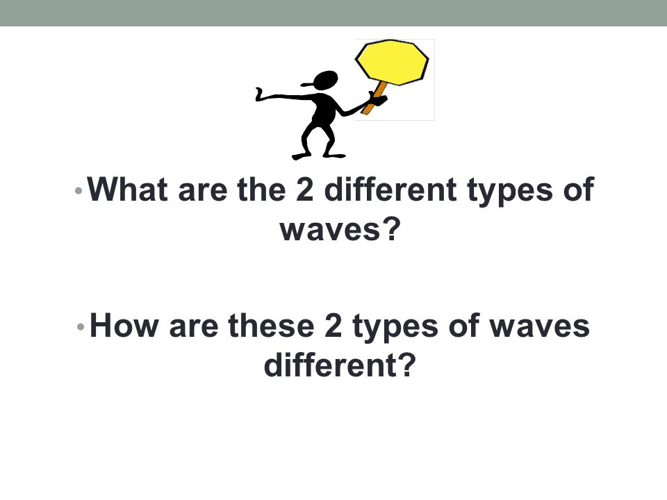 What are the 2 different types of waves