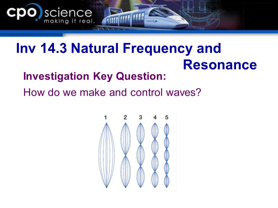 Inv 14.3 Natural Frequency and Resonance