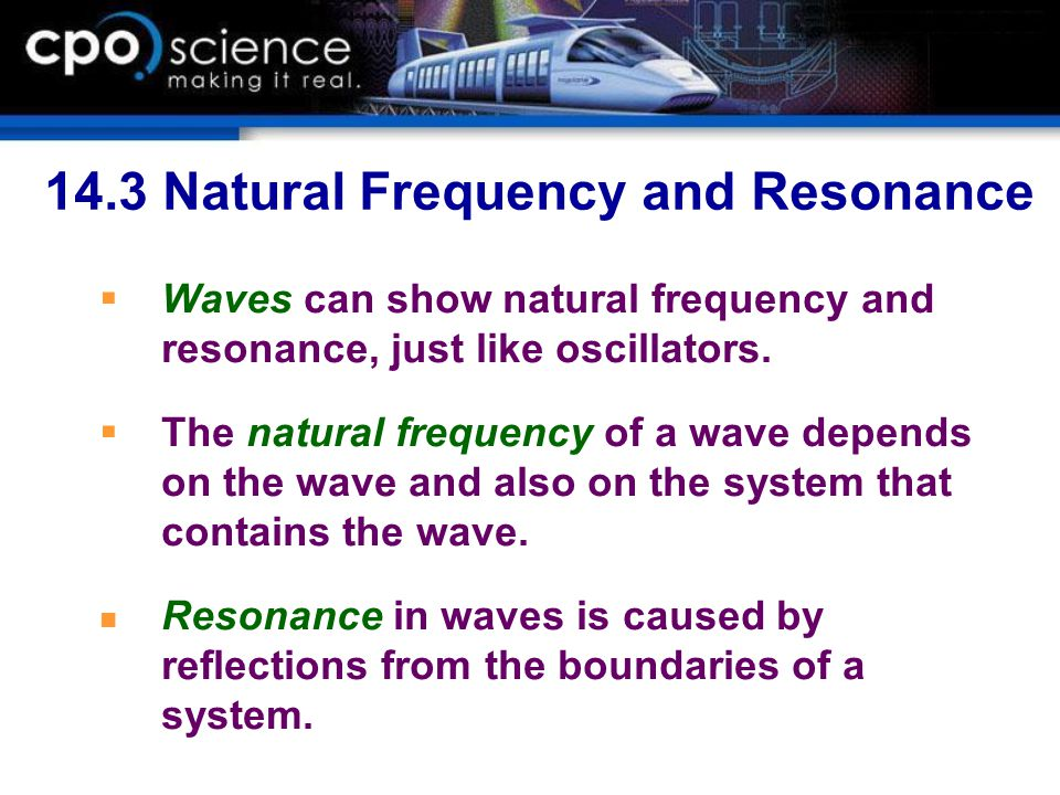 14.3 Natural Frequency and Resonance