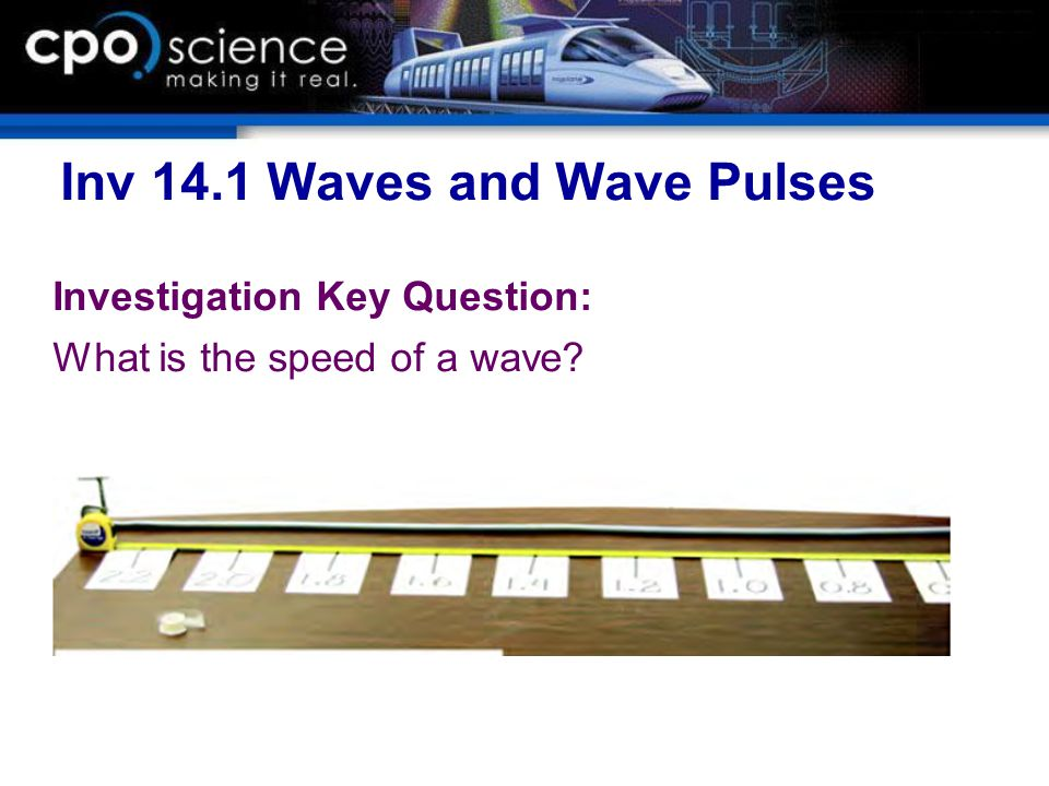 Inv 14.1 Waves and Wave Pulses