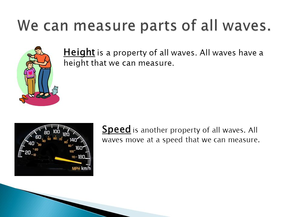 We can measure parts of all waves.