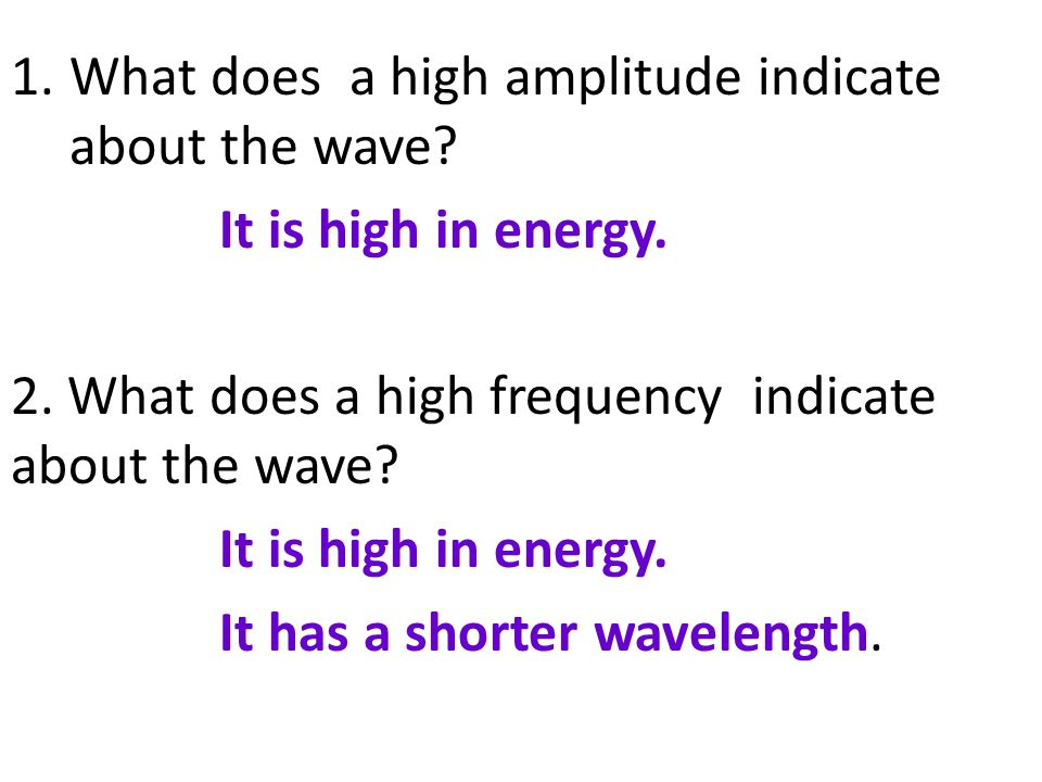 What does a high amplitude indicate about the wave