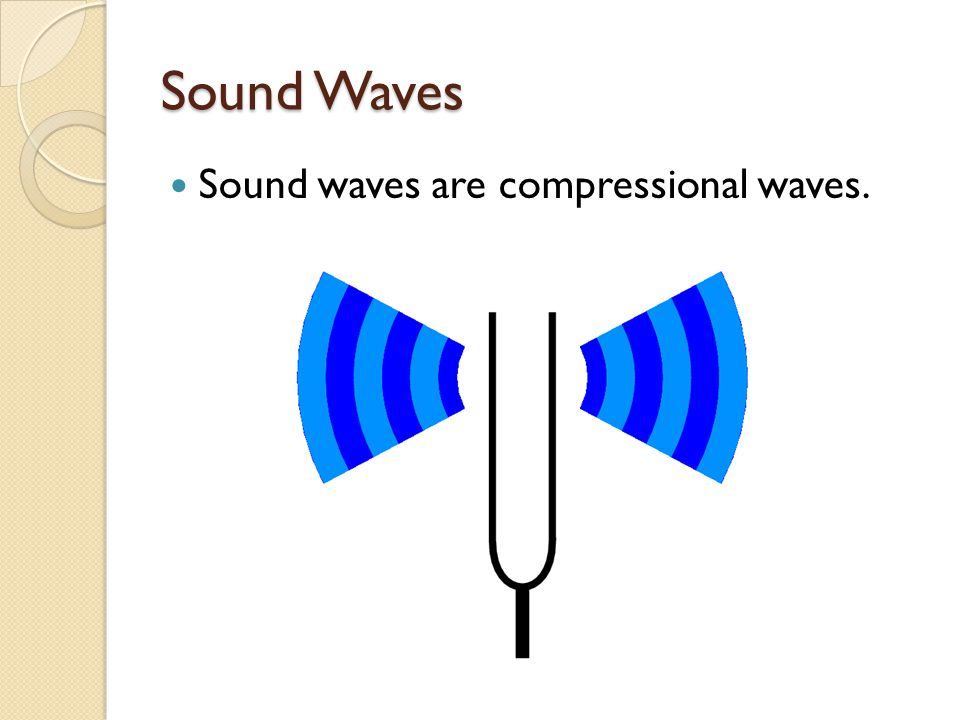 Sound Waves Sound waves are compressional waves.