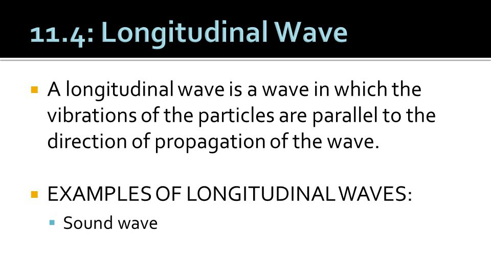 11.4: Longitudinal Wave