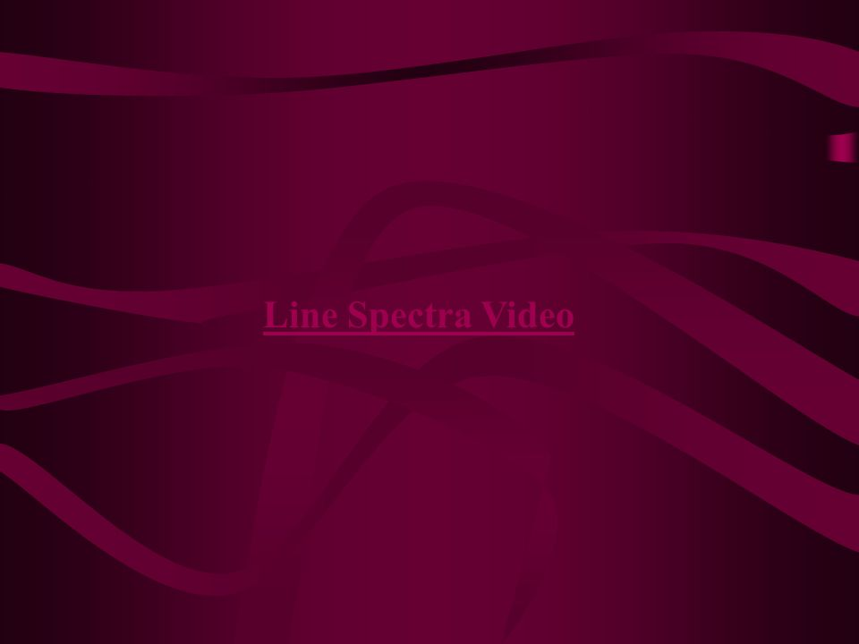 Line Spectra Video