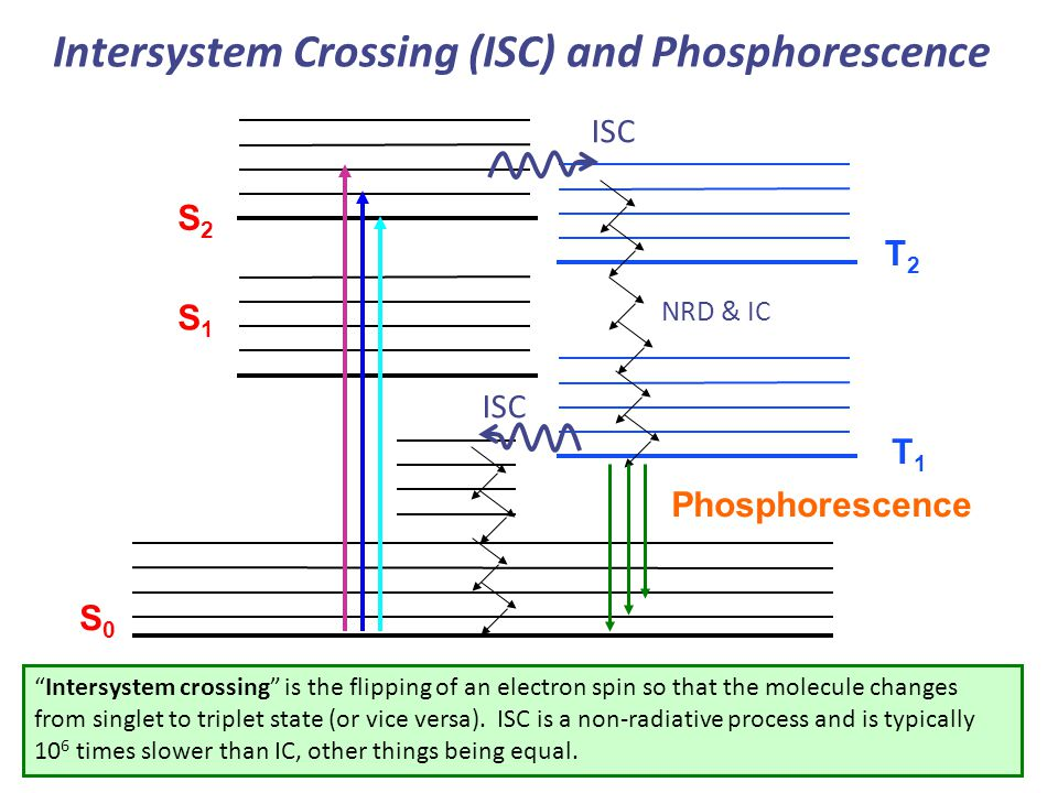 Intersystem Crossing (ISC) and Phosphorescence