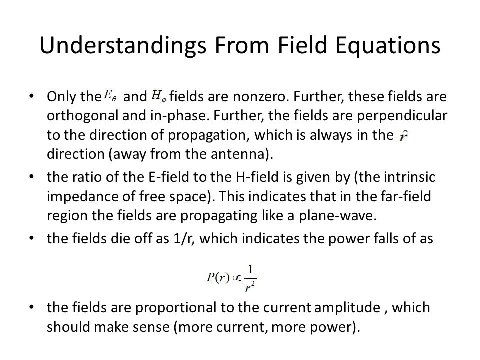 Understandings From Field Equations