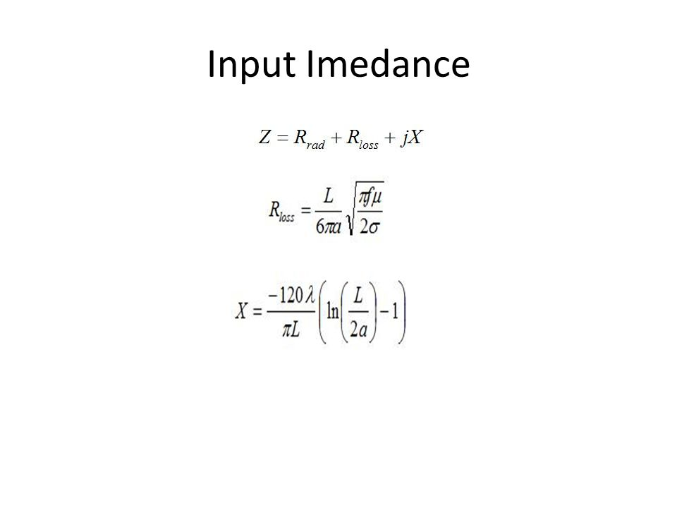 Input Imedance