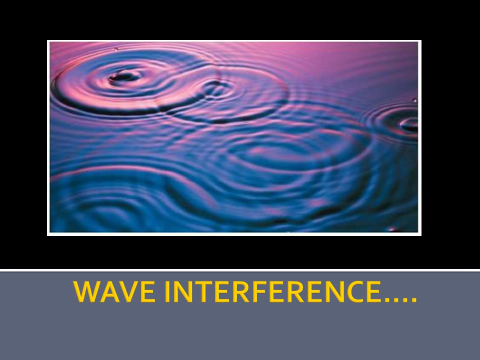 WAVE INTERFERENCE....