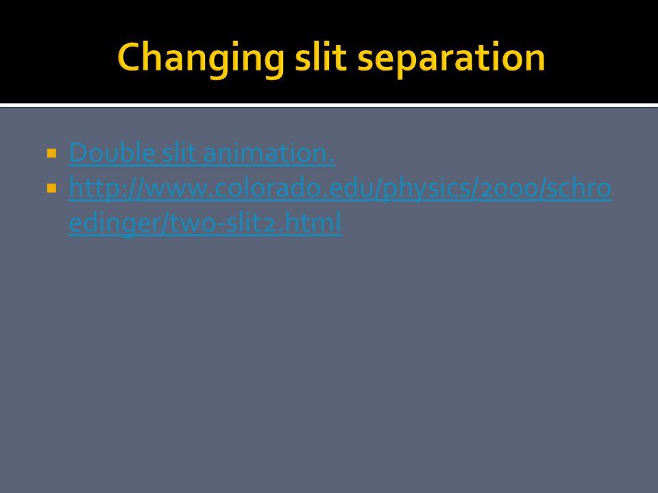 Changing slit separation
