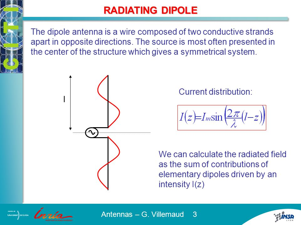 CHARACTERISTIC FUNCTION OF THE DIPOLE