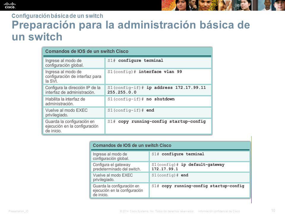 Configuración básica de un switch Preparación para la administración básica de un switch