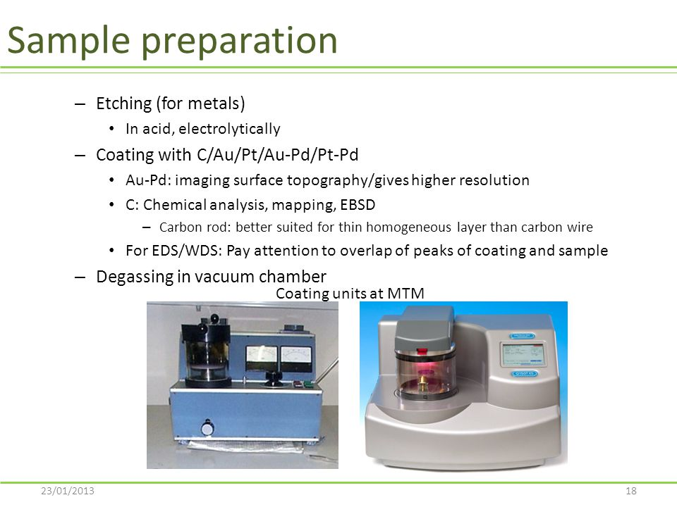 Sample preparation Etching (for metals)