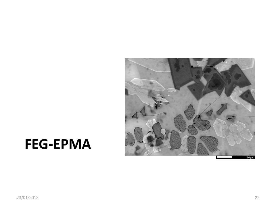FEG-EPMA 23/01/2013