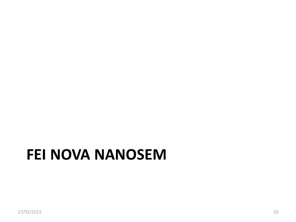 FEI Nova NANOSEM 23/01/2013