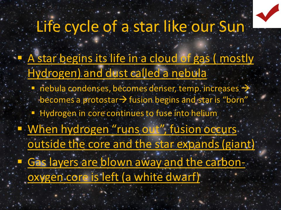 Life cycle of a star like our Sun