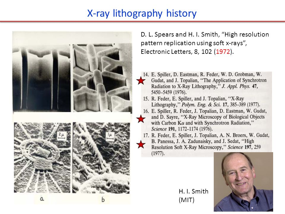 X-ray lithography history