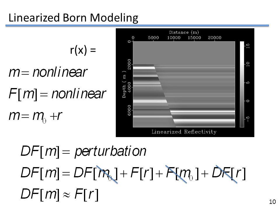Linearized Born Modeling