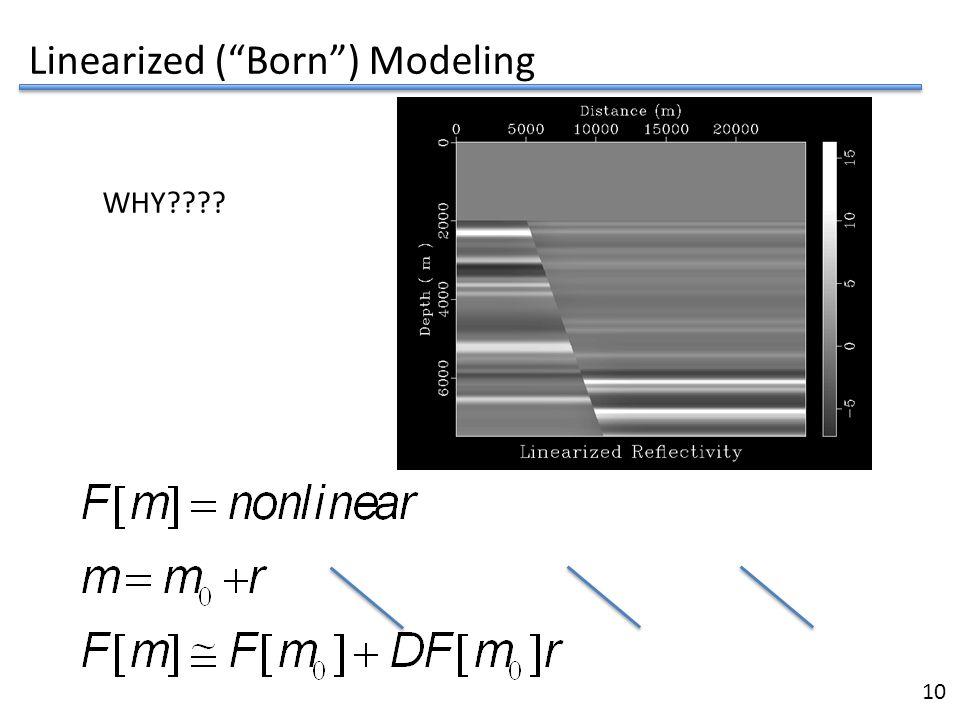 Linearized ( Born ) Modeling