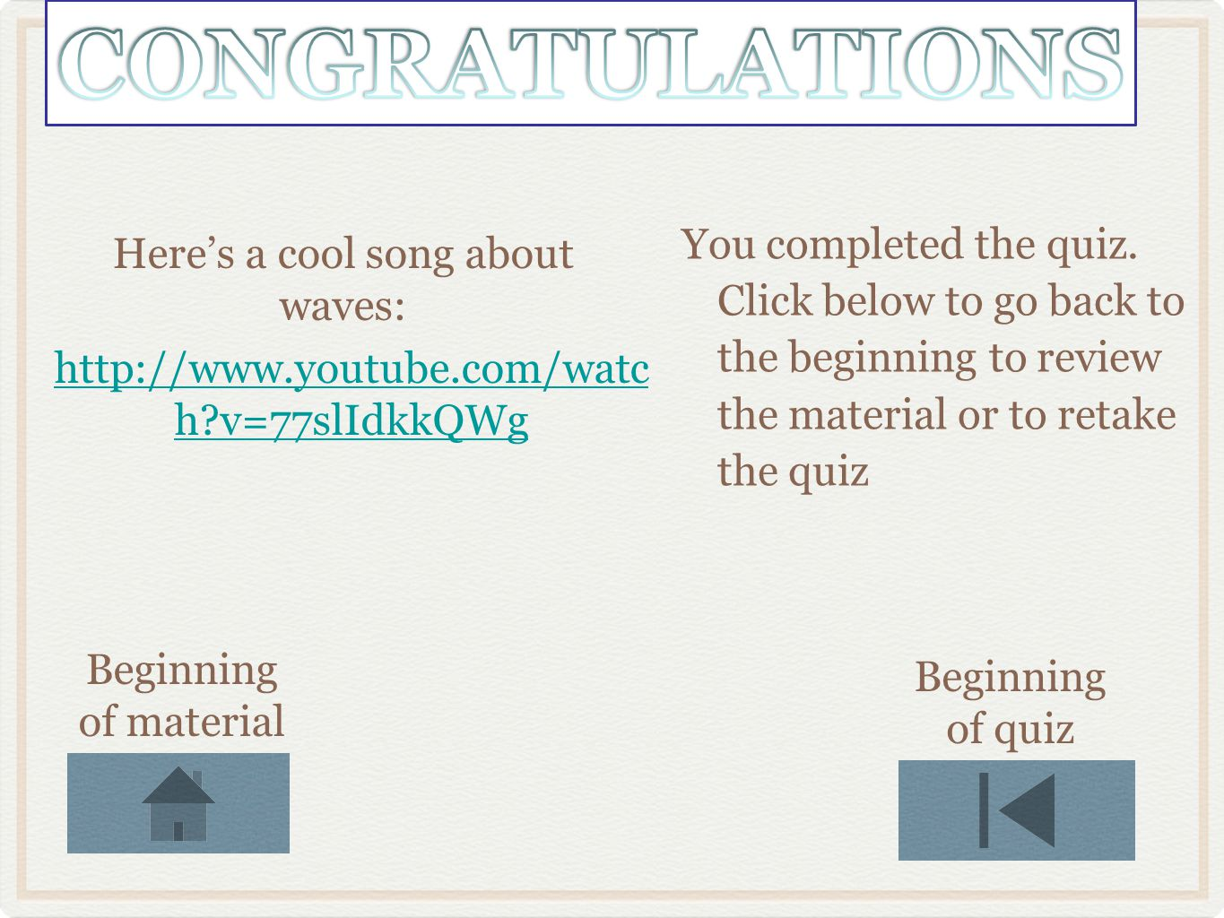 Here's a cool song about waves: