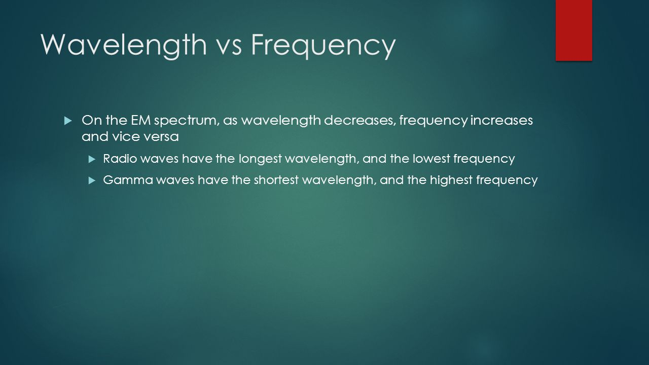 Wavelength vs Frequency