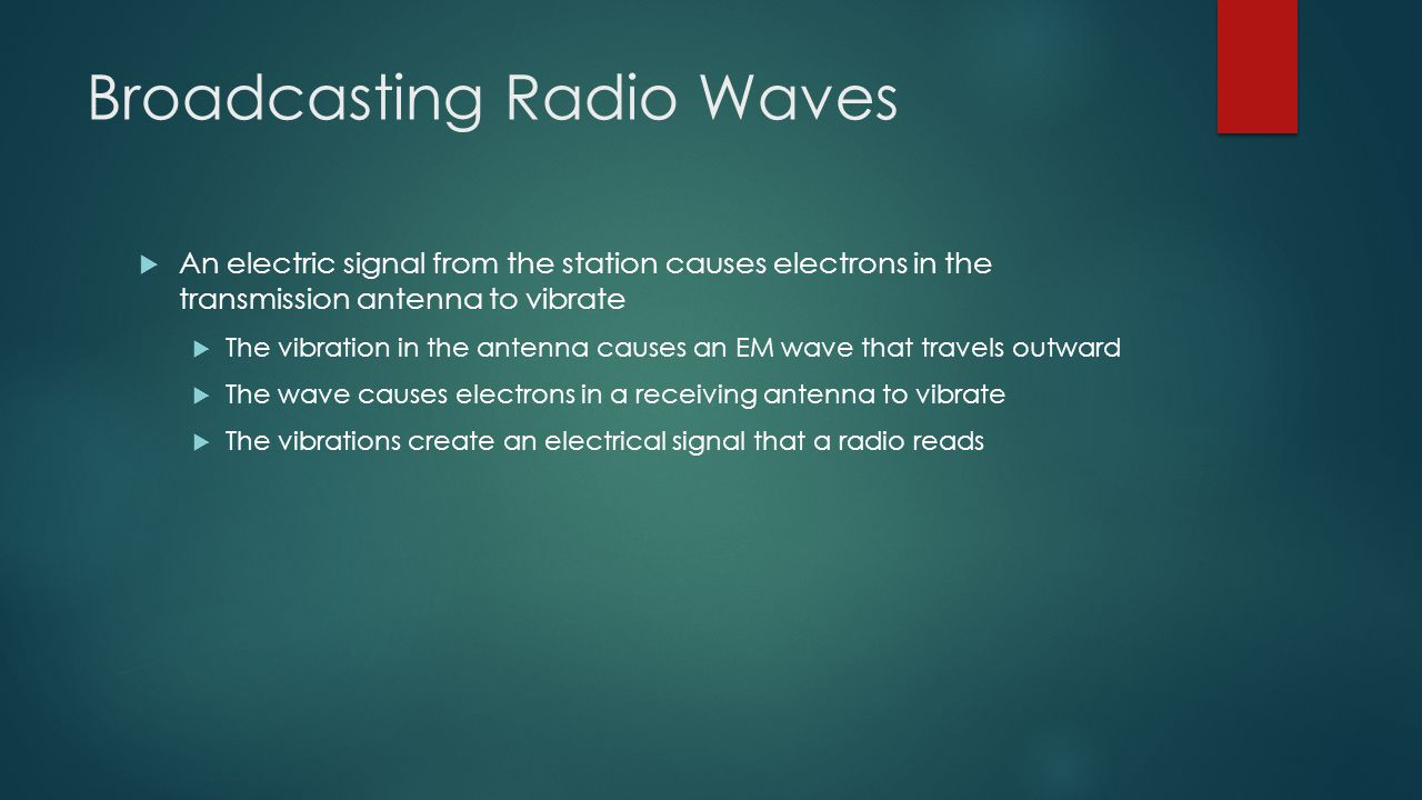 Broadcasting Radio Waves
