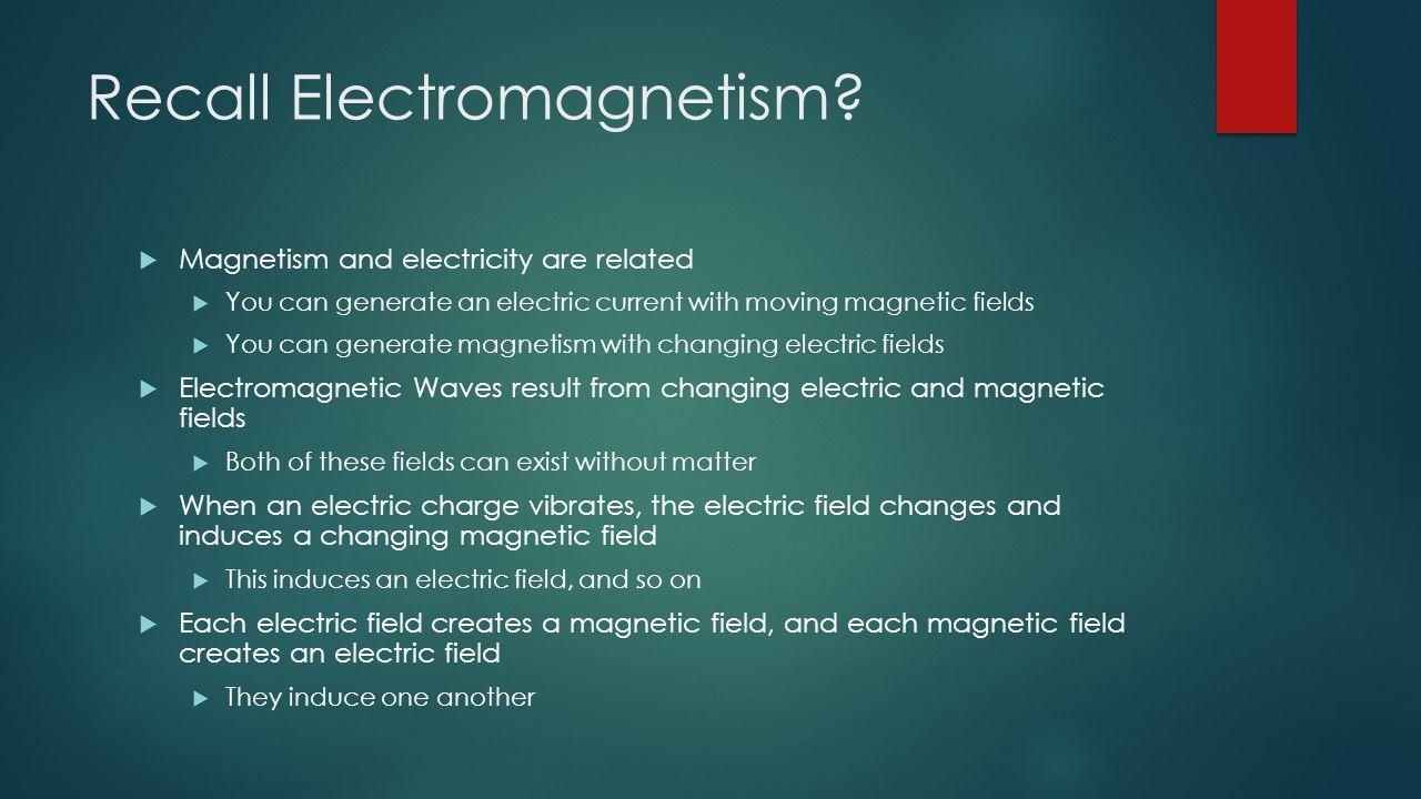 Recall Electromagnetism