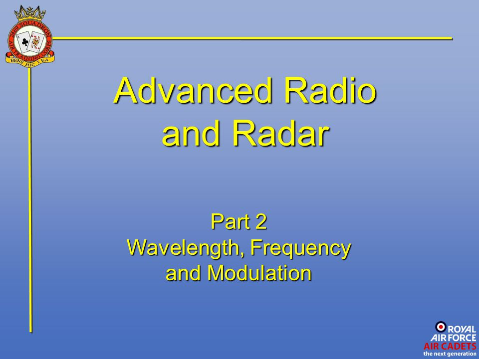 Advanced Radio and Radar