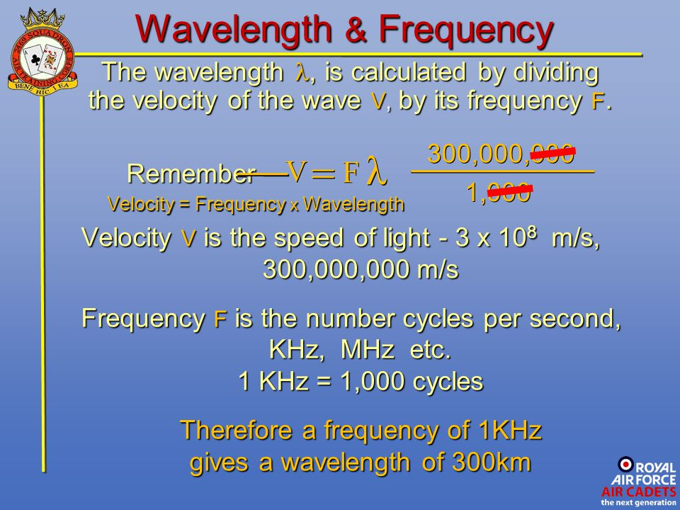 Wavelength & Frequency