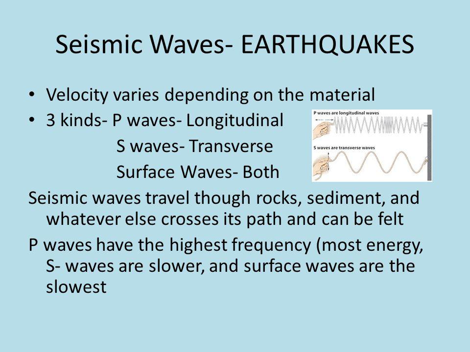 Seismic Waves- EARTHQUAKES