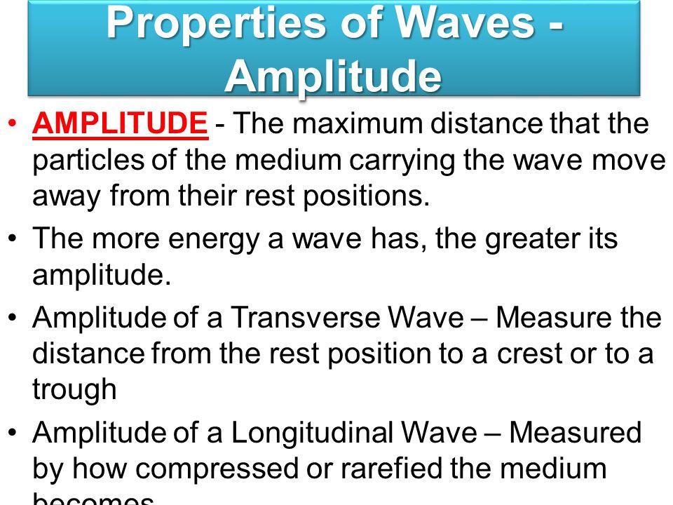 Properties of Waves - Amplitude
