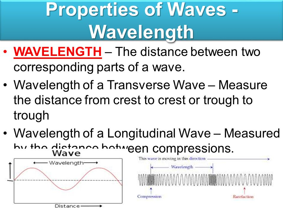 Properties of Waves - Wavelength