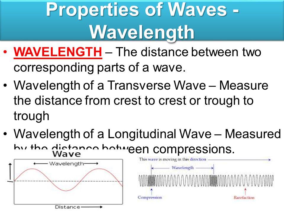Properties of Waves - Wavelength