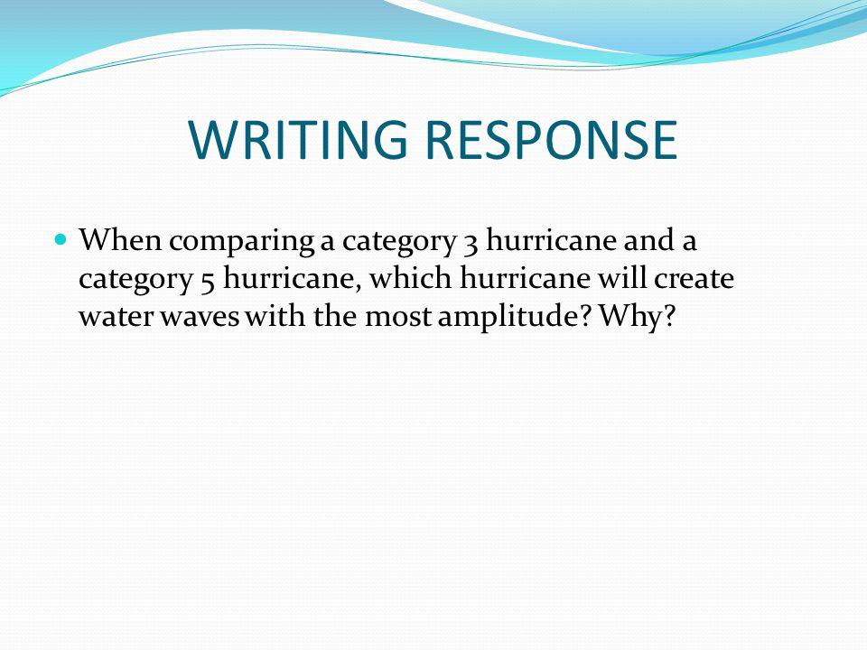 WRITING RESPONSE