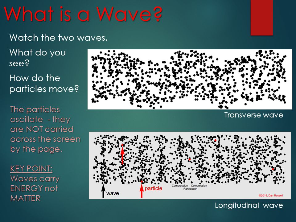 What is a Wave Watch the two waves. What do you see How do the