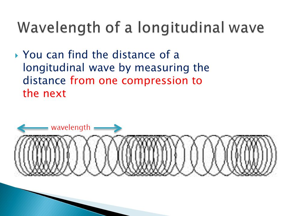 Wavelength of a longitudinal wave