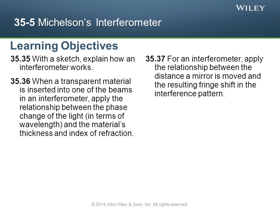 35-5 Michelson's Interferometer