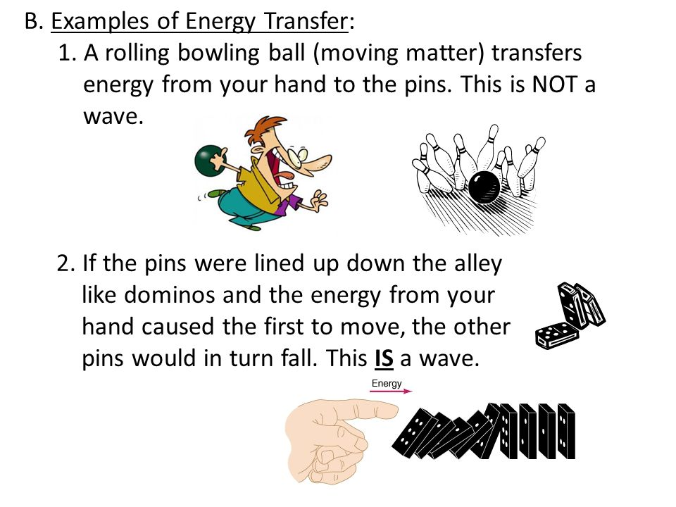 B. Examples of Energy Transfer: