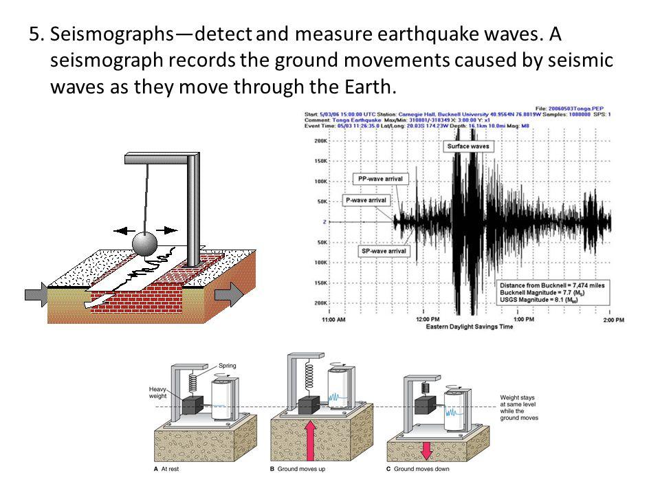 5. Seismographs—detect and measure earthquake waves