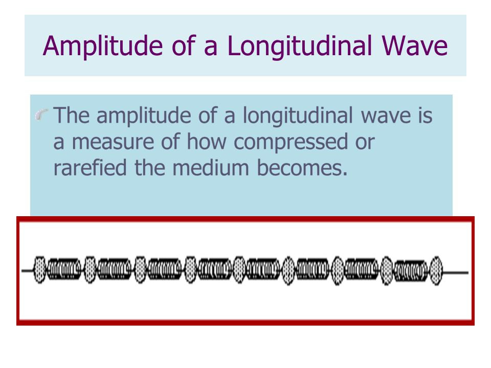 Amplitude of a Longitudinal Wave