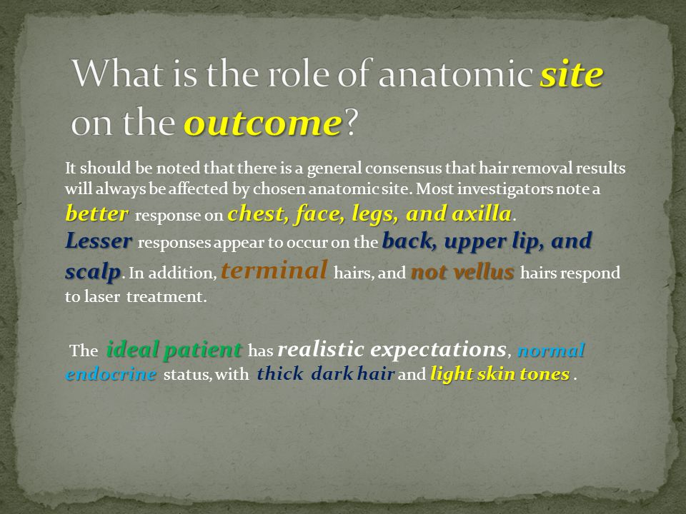 What is the role of anatomic site on the outcome