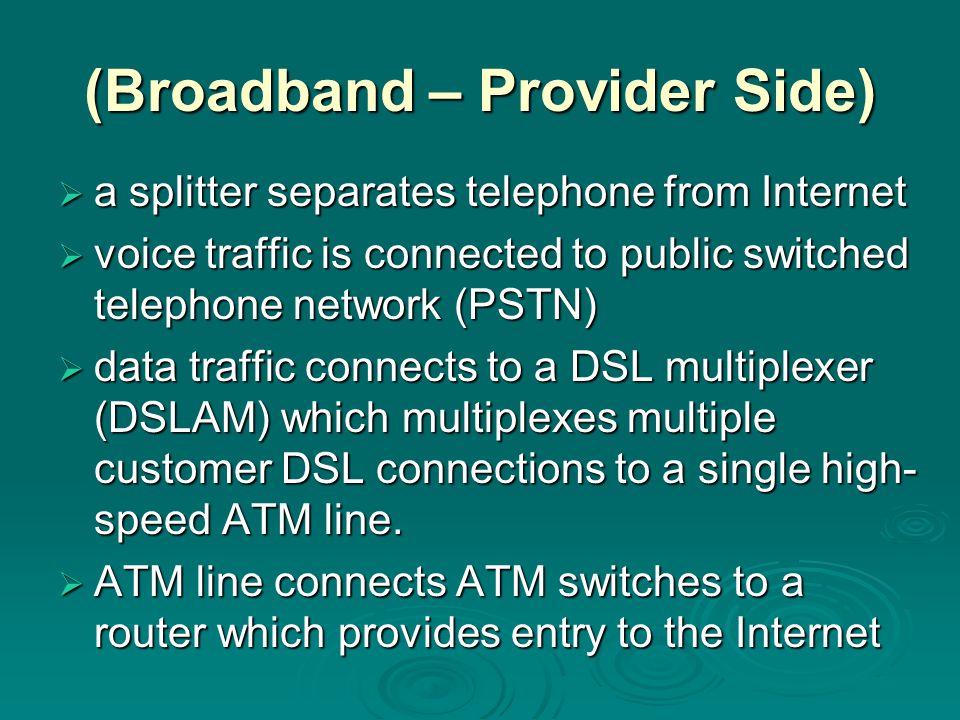 (Broadband – Provider Side)