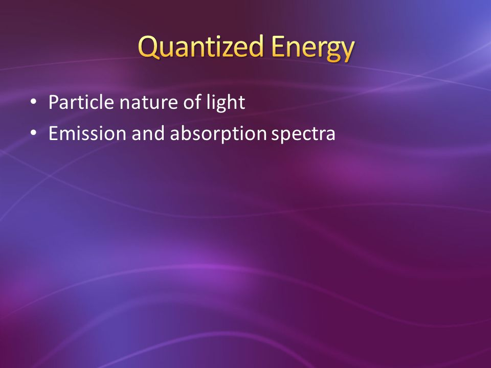 Quantized Energy Particle nature of light