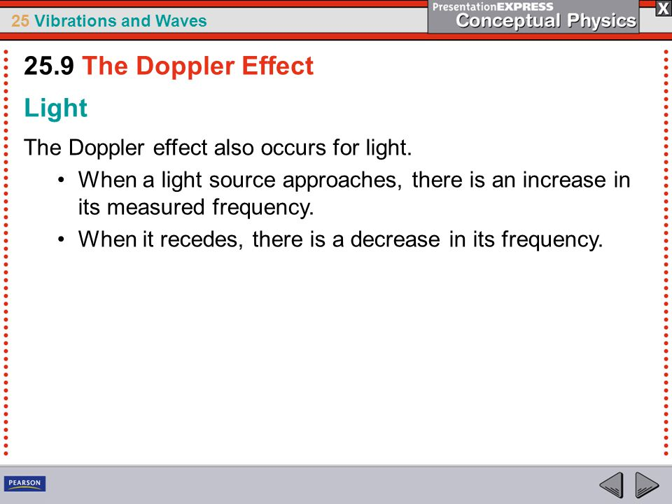 25.9 The Doppler Effect Light