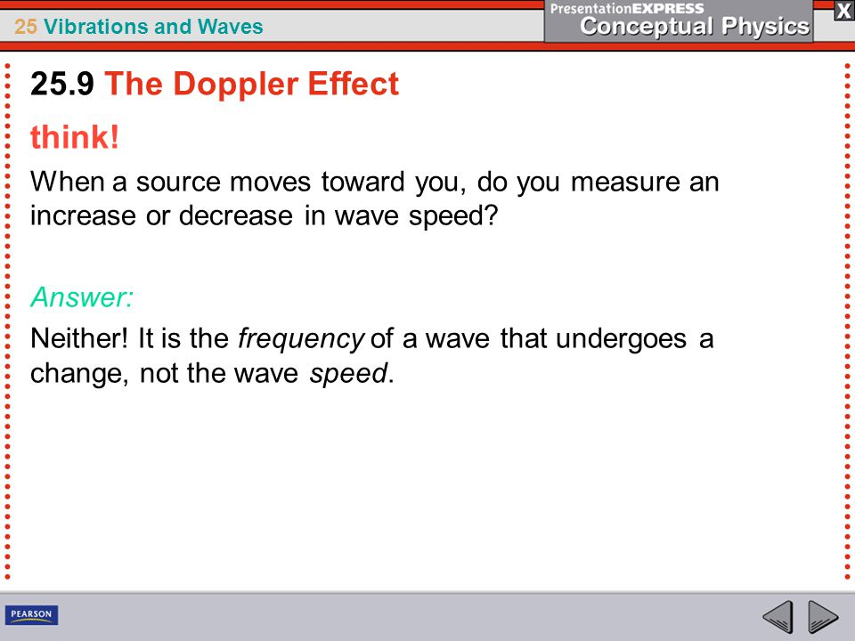 25.9 The Doppler Effect think!